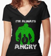 I'm Always Angry! Women's Fitted V-Neck T-Shirt