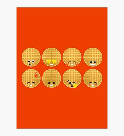 Emoji Building - Waffles Photographic Print