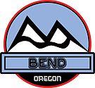 Bend Oregon Ski Skiing Mountain Art by MyHandmadeSigns