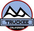 TRUCKEE CALIFORNIA Ski Skiing Mountain Art by MyHandmadeSigns