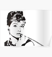 Black and White Audrey Hepburn Poster