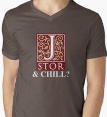 JSTOR and Chill? Men's V-Neck T-Shirt