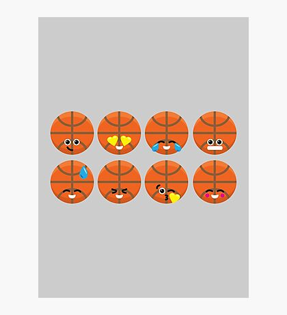 Emoji Building - Basketball Photographic Print