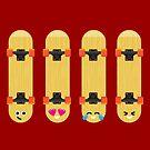 Emoji Building - Skateboards by SevenHundred