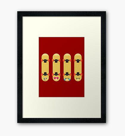 Emoji Building - Skateboards Framed Print
