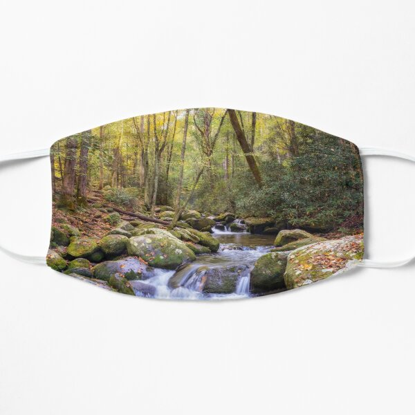 Autumn on the Roaring Fork - Smoky Mountains Flat Mask
