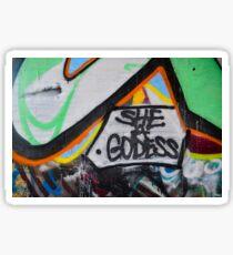 Abstract Graffiti Wall Art, She a Godess Sticker