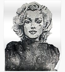 Newspaper Print of Marilyn Monroe Poster