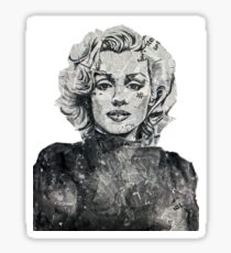 Newspaper Print of Marilyn Monroe Sticker
