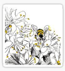 Foraging Bee Sticker