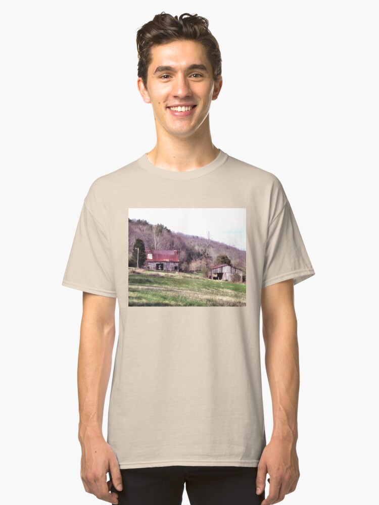 """""""A Countryside View from the Car Window""""... prints and products Classic T-Shirt Front"""