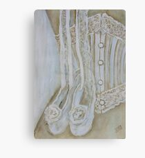 White corset Canvas Print