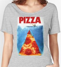 Pizza Shark Jaws Women's Relaxed Fit T-Shirt
