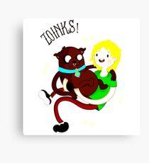 Shaggy Finn And Jake Dog Canvas Print