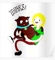 Shaggy Finn And Jake Dog Poster