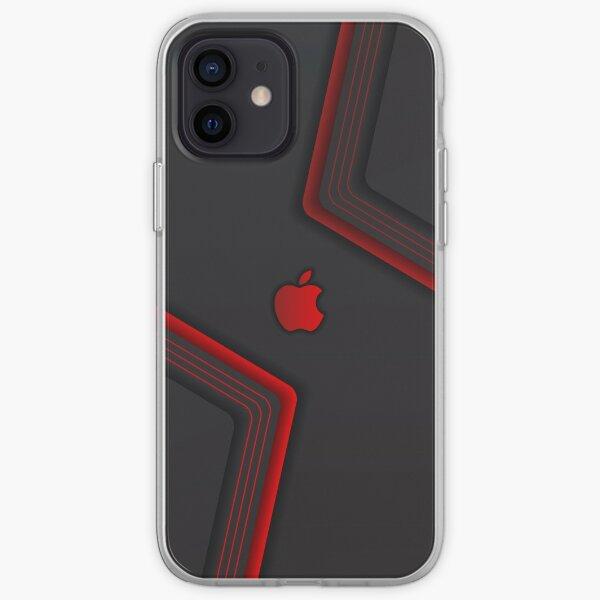 Funda elegante negra y roja para iPhone, funda para iPhone Funda blanda para iPhone