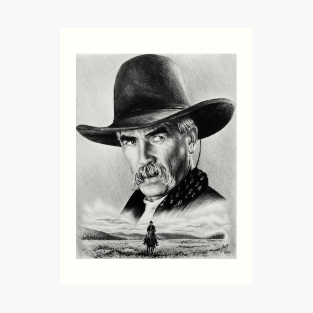 Sam Elliot Einziger Reiter Kunstdruck
