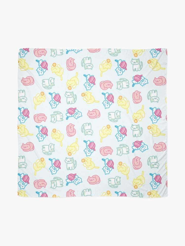 Alternative Ansicht von Pastell Neko Atsume Muster Tuch