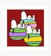 Snoopy Easter  Art Print
