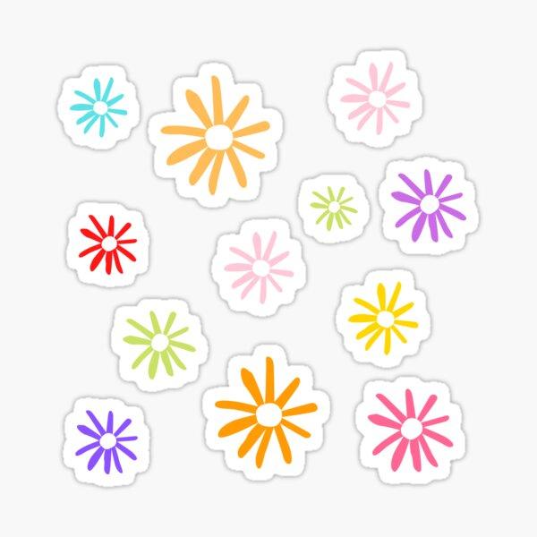 Colored flowers pattern Sticker