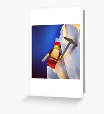 Lego Ice Climber Greeting Card