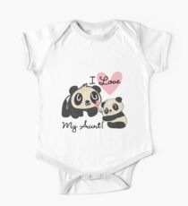Kids Panda Bears I Love My Aunt One Piece - Short Sleeve