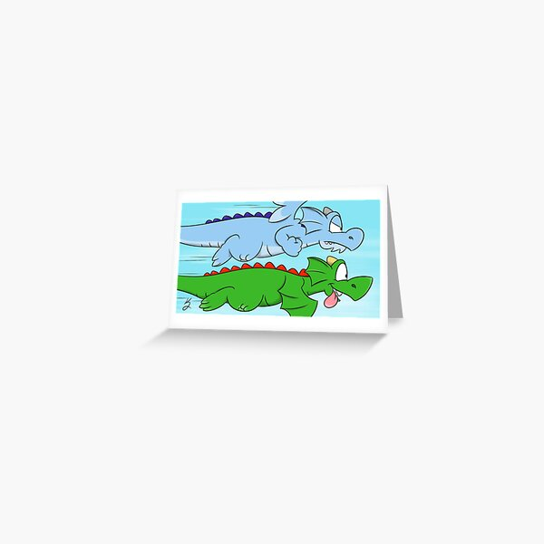 Zookie and Frizard  Greeting Card