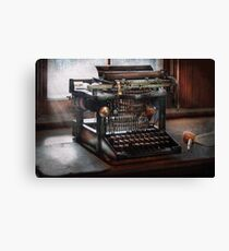Steampunk - Typewriter - A really old typewriter  Canvas Print