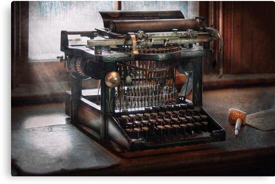 Steampunk - Typewriter - A really old typewriter  by Michael Savad