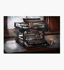 Steampunk - Typewriter - A really old typewriter  Photographic Print