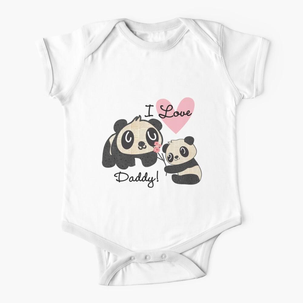 Kids Panda Bears I Love Daddy Baby One-Piece