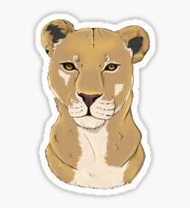 The Lioness - Bust Sticker