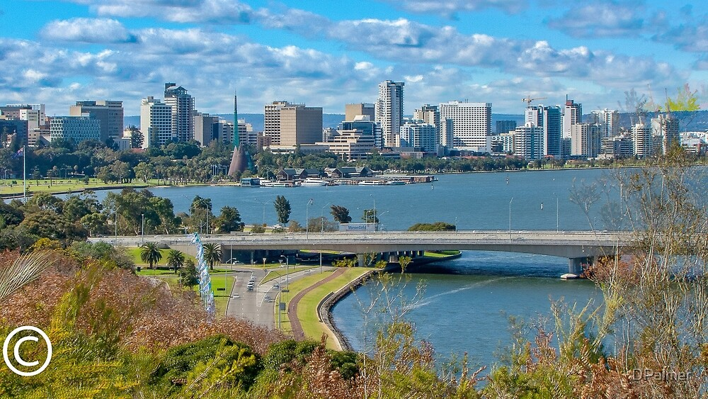 Perth fron Kings Park by DPalmer