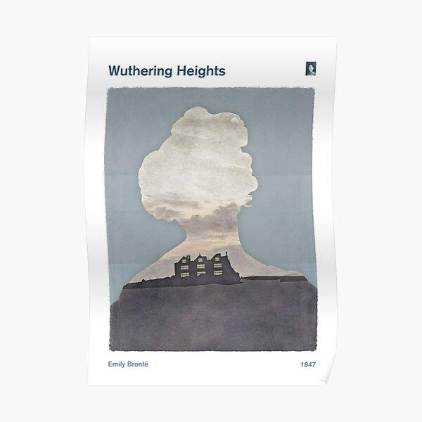Whutering Heights, Emily Brontë Literary Art & Design for Bookworms Poster