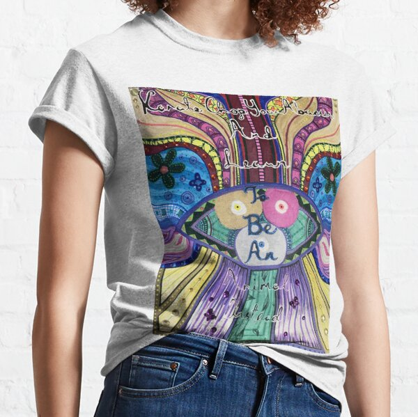 Trippy Colorful Will Wood Art Classic T-Shirt