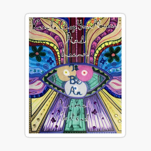 Trippy Colorful Will Wood Art Sticker