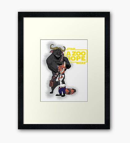 Nick Solo & Chief Chewiee - Variant Framed Print