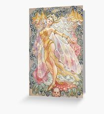 Proud Titania in the Poisonous Blooms Greeting Card