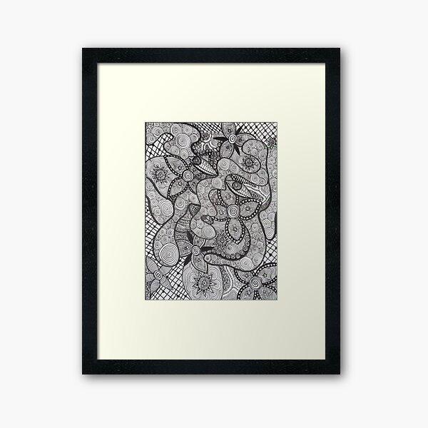 Trippy Line Art Framed Art Print