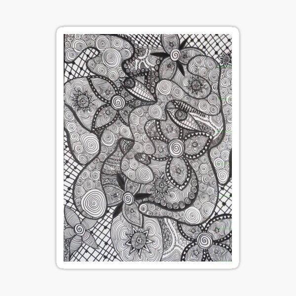 Trippy Line Art Sticker