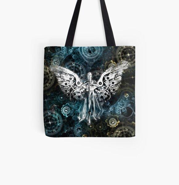 Uhrwerk Engel Allover-Print Tote Bag