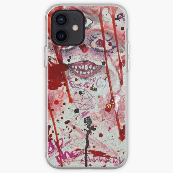 Colorful Red Abstract Art iPhone Soft Case