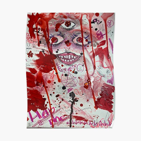 Colorful Red Abstract Art Poster