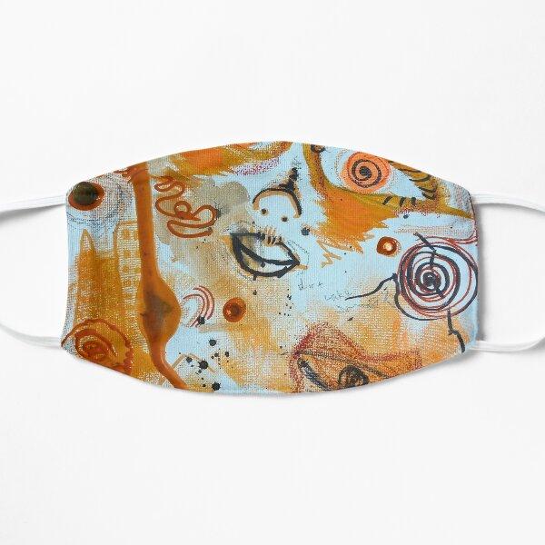 Colorful Orange Abstract Art Flat Mask