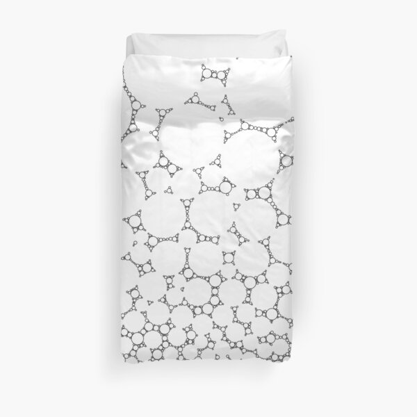 Abstract Black Bubbles #3 Duvet Cover