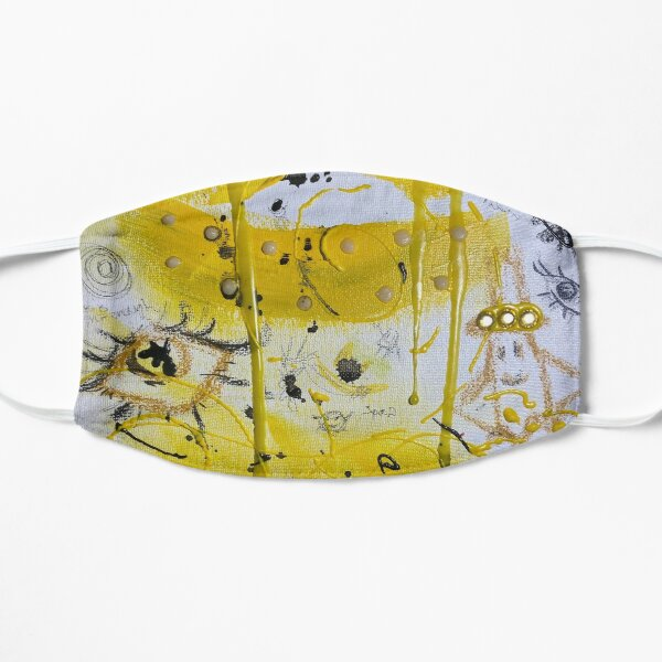Colorful Yellow Abstract Art Flat Mask