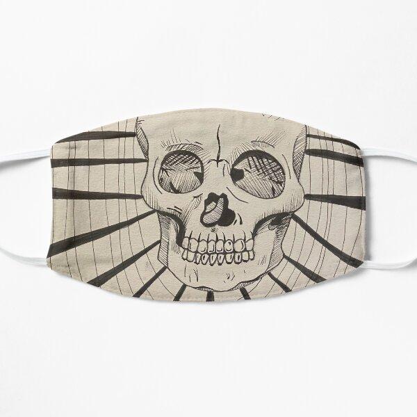 Trippy Skull Line Art Flat Mask