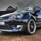 Black Ford Fiesta HDR by Vicki Spindler (VHS Photography)