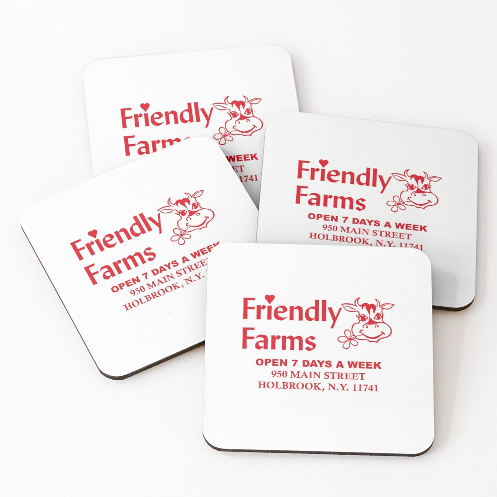 Friendly Farms Food Store - Holbrook, New York Coasters (Set of 4)