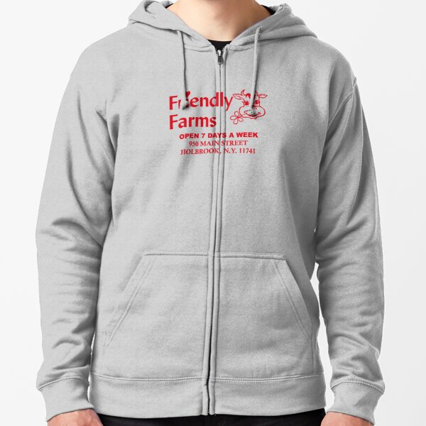 Friendly Farms Food Store - Holbrook, New York Zipped Hoodie